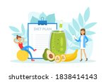 healthy nutrition and dieting ... | Shutterstock .eps vector #1838414143