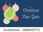 tennis holiday banner. merry... | Shutterstock .eps vector #1838420773
