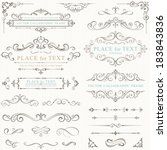 ornate frames and scroll... | Shutterstock .eps vector #183843836