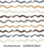 wave stripes pattern  grunge... | Shutterstock .eps vector #1838441863