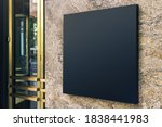 Black Square Signboard On The...