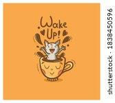 Morning Card With Cute Cartoon...