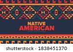 native american heritage month... | Shutterstock .eps vector #1838451370