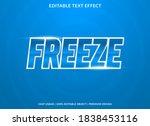 freeze text effect template... | Shutterstock .eps vector #1838453116