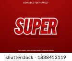 super text effect template with ... | Shutterstock .eps vector #1838453119