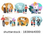 group of kids on excursion in... | Shutterstock .eps vector #1838464000