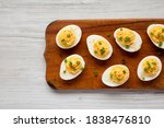 Homemade deviled eggs with...