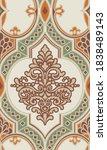 damask seamless pattern. best...   Shutterstock .eps vector #1838489143