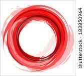round frame. red vector... | Shutterstock .eps vector #183850964