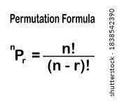 permutation formula on white... | Shutterstock .eps vector #1838542390