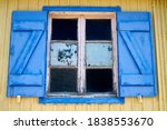 Old Blue Window With Open...