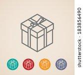 isometric vector gift box icons