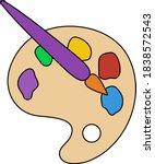 palette toy icon. editable...