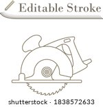 circular saw icon. editable...