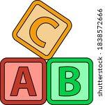 box of bricks icon. editable...