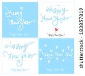 happy new year | Shutterstock .eps vector #183857819