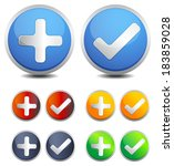 button set   illustration | Shutterstock . vector #183859028