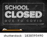 school closed due to covid... | Shutterstock .eps vector #1838595490