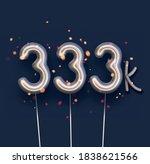 silver balloon 333k sign on... | Shutterstock .eps vector #1838621566