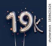 silver balloon 19k sign on dark ...   Shutterstock .eps vector #1838621626