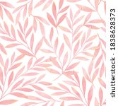 Seamless Watercolor Botanical...