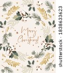christmas greeting cards with... | Shutterstock .eps vector #1838633623