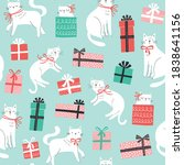 christmas vector pattern with... | Shutterstock .eps vector #1838641156