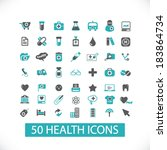 health flat icons set  for... | Shutterstock .eps vector #183864734
