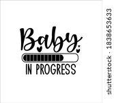 baby in progress  progress bar... | Shutterstock .eps vector #1838653633
