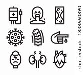 icon set diseases for different ... | Shutterstock .eps vector #1838660890