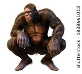 3d Rendering Of A Sasquatch Or...
