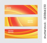 set of vector yellow and red... | Shutterstock .eps vector #183866150