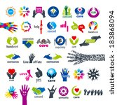 biggest collection of vector... | Shutterstock .eps vector #183868094