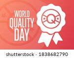 world quality day. second... | Shutterstock .eps vector #1838682790