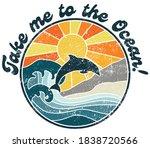 retro ocean illustration with... | Shutterstock .eps vector #1838720566