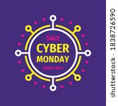 cyber monday concept promotion... | Shutterstock .eps vector #1838726590