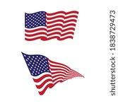 flag american vector icon... | Shutterstock .eps vector #1838729473