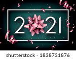 pink foil metallic bow instead... | Shutterstock .eps vector #1838731876