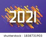 2021 zip font paper sign over...   Shutterstock .eps vector #1838731903