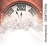 creative bronze clock showing... | Shutterstock .eps vector #1838731906