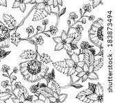 Vintage Flower Seamless Pattern