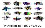 set of modern glitch. tv noise... | Shutterstock .eps vector #1838737600