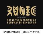 runic style font design ... | Shutterstock .eps vector #1838745946