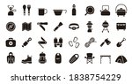 camping and outdoor gear icon... | Shutterstock .eps vector #1838754229