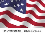 the us flag flapping in the... | Shutterstock .eps vector #1838764183
