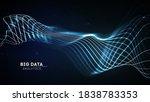big data wave on dark... | Shutterstock .eps vector #1838783353