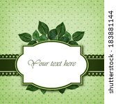 rose leaves arrangement and... | Shutterstock . vector #183881144