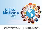 united nations day on october 24 | Shutterstock .eps vector #1838813590