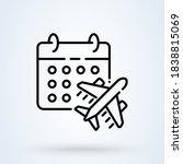 this flight schedule sign line...   Shutterstock .eps vector #1838815069