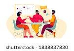 vector illustration of office...   Shutterstock .eps vector #1838837830